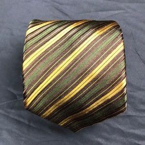 Brioni green striped tie